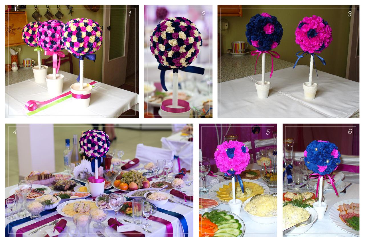 Украсить стол своими руками цветы 150